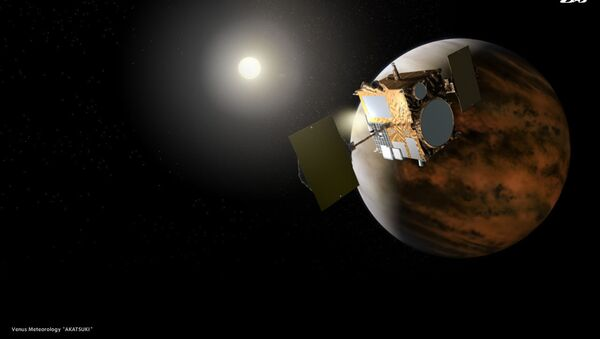 Так художник представил себе Акацуки на орбите Венеры