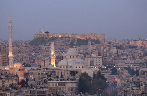 Вид на город Алеппо, Сирия