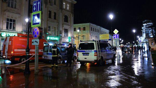 На улице Покровка в центре Москвы произошел взрыв
