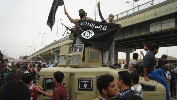 Автомобиль захваченный боевиками ИГ (ДАИШ) у иракской армии в городе Фаллуджа. Архивное фото