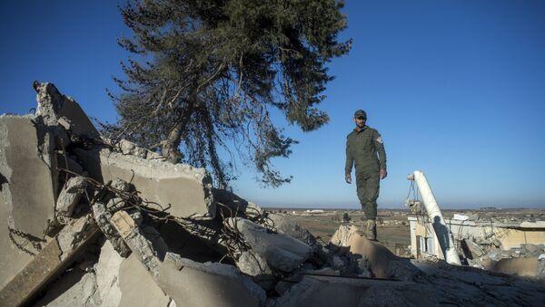 Христианские деревни в провинции Эль-Хасаке на севере-востоке Сирии разрушенные боевиками ИГ (ДАИШ)