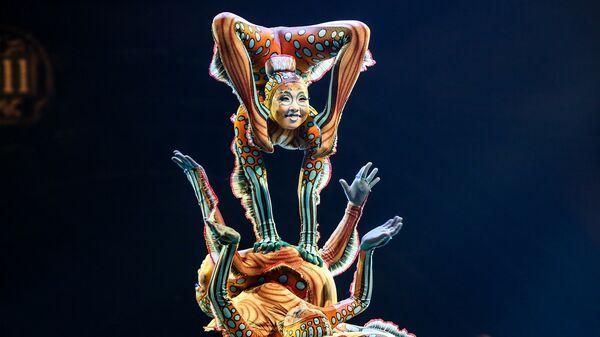 Артисты цирка Cirque du Soleil во время выступления в Лос-Анджелесе