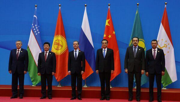 Премьер-министр РФ Д.Медведев принял участие в совете глав правительств стран ШОС