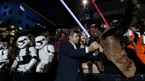 Актер Энди Серкис на премьере фильма Звездные войны:Пробуждение силы в Лос-Анджелесе