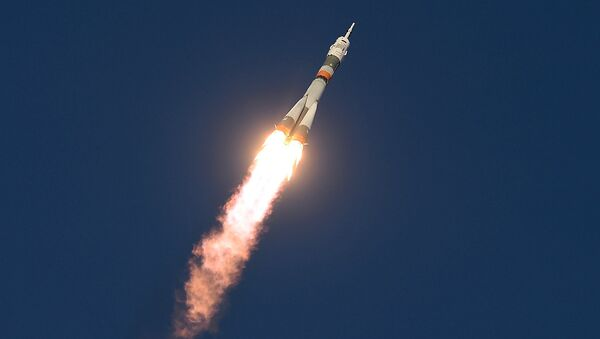 Старт космического корабля Союз ТМА-19М с космодрома Байконур. Архивное фото