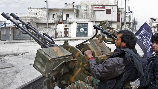Бойцы Свободной сирийской армии в Алеппо, Сирия. Архивное фото