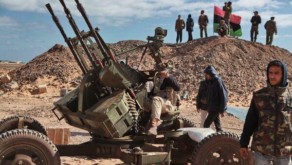 Расчет зенитного пулемета в окрестностях города Бин Джавад