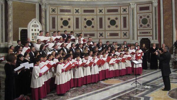 Концерт хора РПЦ и Папской капеллы в Ватикане