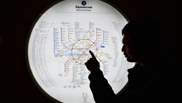 Карта метро на станции Бауманская. Архивное фото