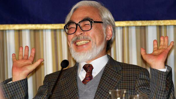 Японский режиссер-аниматор Хаяо Миядзаки. Архивное фото