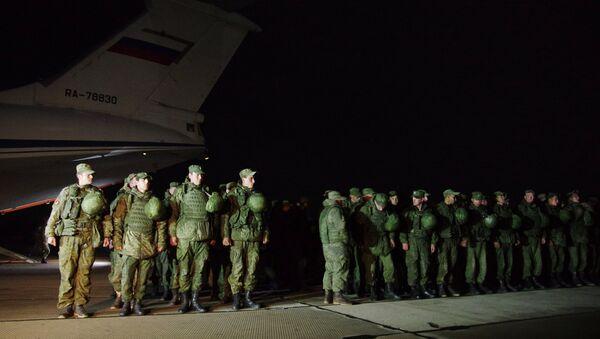 Морпехи ЧФ прибыли в Крым, выполнив задачи по охране аэродрома в Сирии