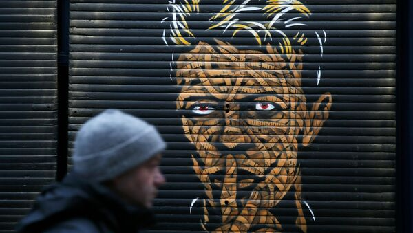 Портрет музыканта Дэвида Боуи