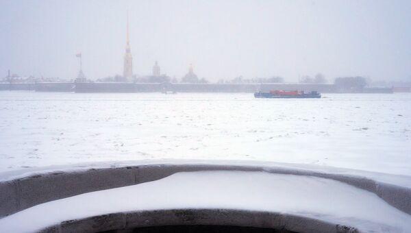 Зимняя погода в Санкт-Петербурге