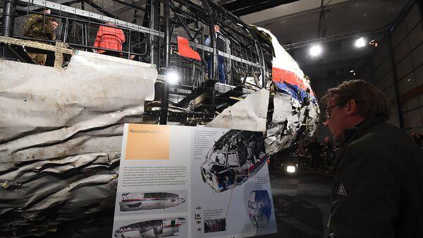Презентация доклада Совета безопасности Нидерландов по причинам крушения Boeing 777. Архивное фото
