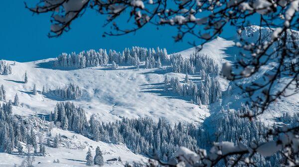 Склон у горнолыжного курорта Китцбюэль в Австрии