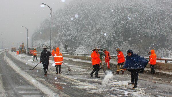 Снегопад в Китае. Архивное фото
