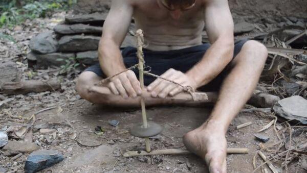 Добыть огонь методом древних людей