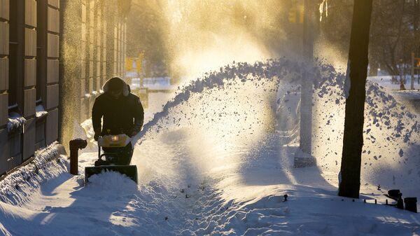 Последствия снегопада в Нью-Йорке. Архивное фото
