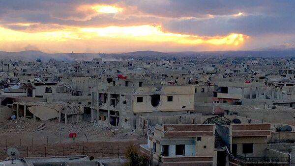 Пригород Дамаска Дарайа, где бойцами Сирийской арабской армии ведутся боевые действия против отрядов террористов. Архивное фото