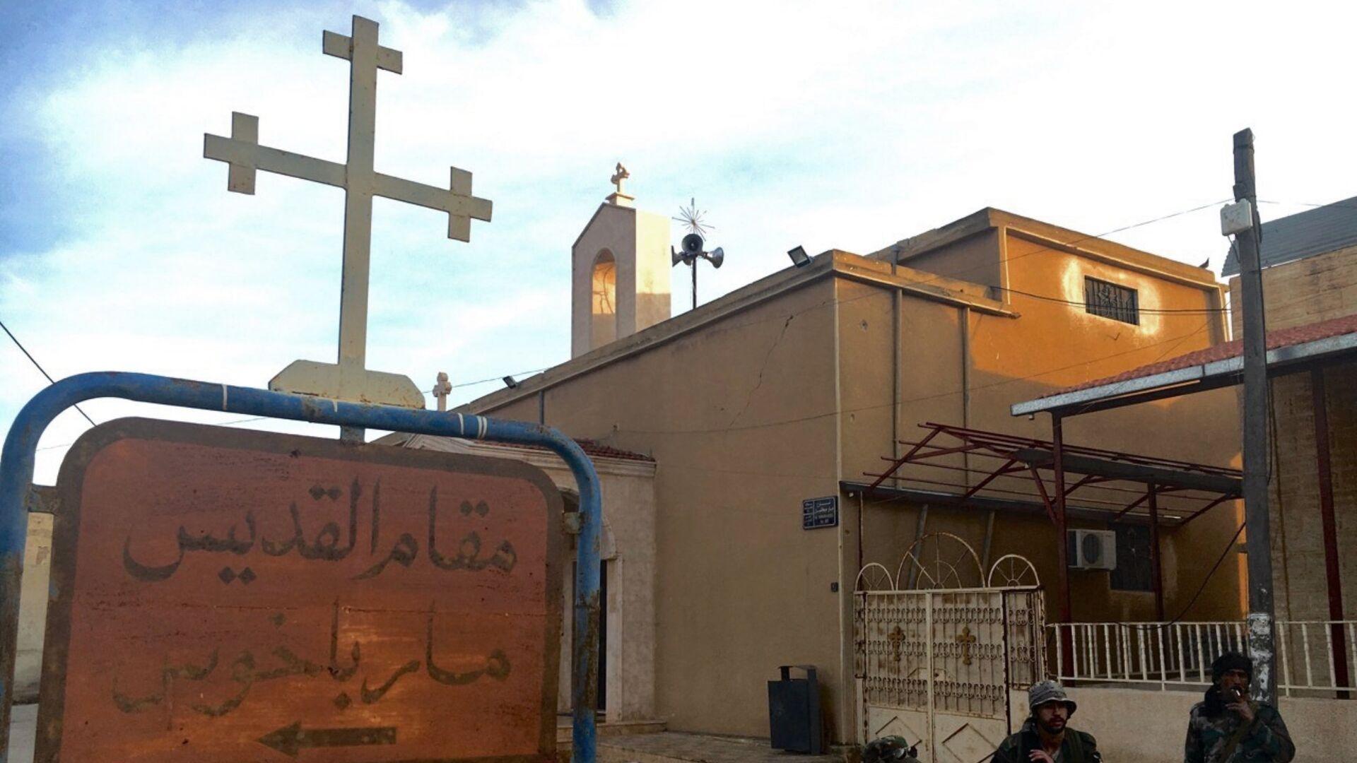 Сирийские ополченцы в христианской деревне Садад, провинция Хомс, Сирия - РИА Новости, 1920, 28.07.2021