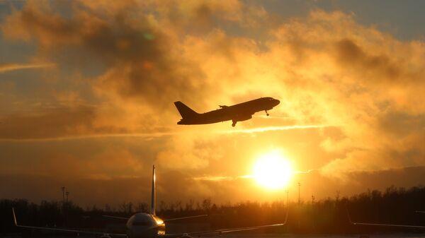 Самолеты на взлетно-посадочной полосе аэропорта Домодедово. Архивное фото