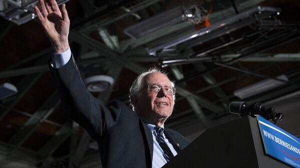 Кандидат в президенты США демократ Берни Сандерс. Февраль 2016