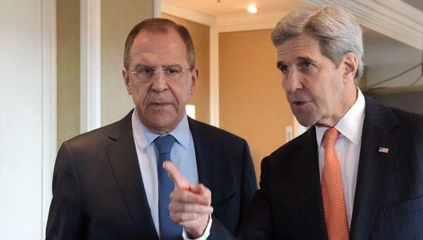 Министр иностранных дел Российской Федерации Сергей Лавров и госсекретарь США Джон Керри. Архивное фото