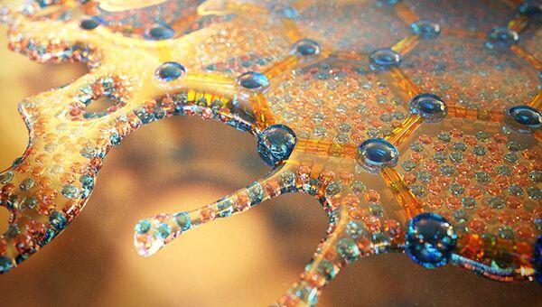Так художник представил себе графен в виде водного металла