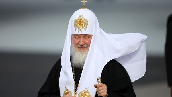 Патриарх Московский и всея Руси Кирилл . Архивное фото