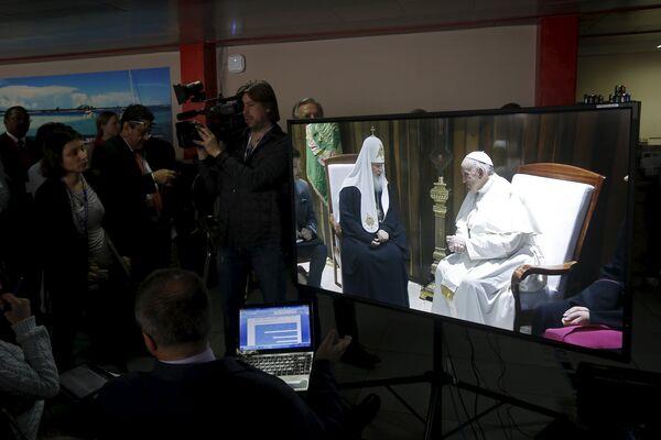 Трансляция встречи патриарха Московского и всея Руси Кирилла с папой Римским Франциском, 12 февраля 2016