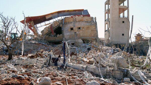 Больница Врачей без границ в провинции Идлиб, разрушенная в результате авиаудара. Архивное фото