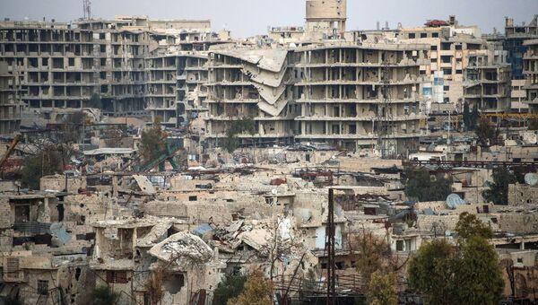 Джобар - район Дамаска, контролируемый боевиками Джебхат ан-Нусры. Архивное фото