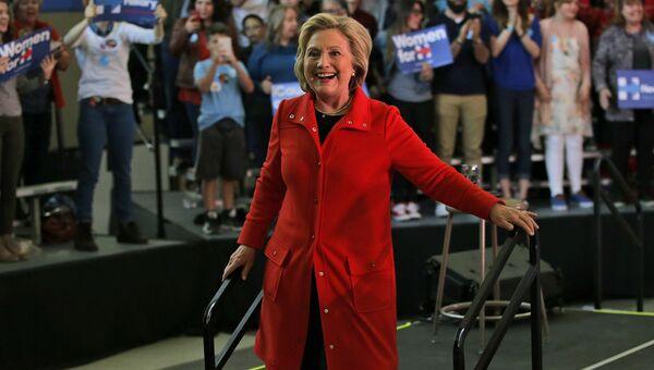 Кандидат в президенты от демократов Хиллари Клинтон в Рино, штат Невада