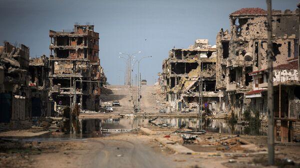Вид на город Сирт, Ливия