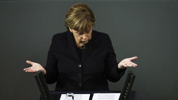 Канцлер Германии Ангела Меркель в парламенте Германии. Архивное фото