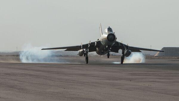 Самолет сирийских ВВС на базе Военно-воздушных сил Сирии. Архивное фото