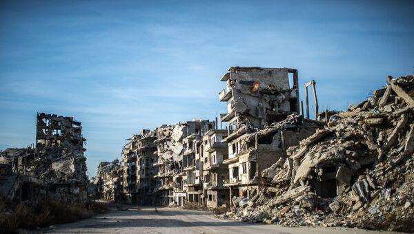 Руины сирийского города. Архивное фото