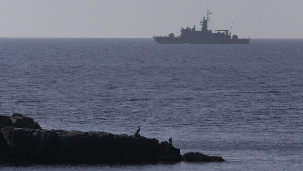 Корабль ВМС Греции в Эгейском море. Архивное фото