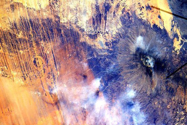 Вид на Африку снятый с Международной космической станции