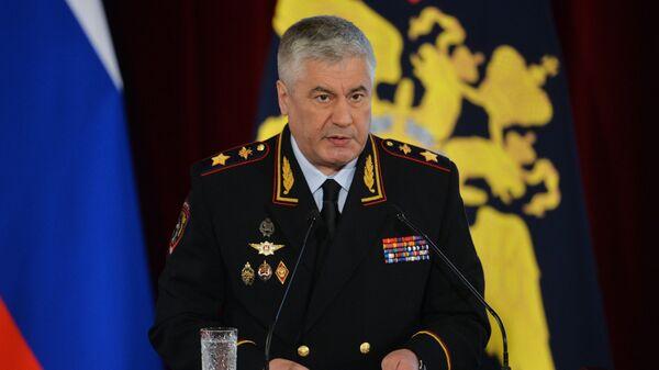 Министр внутренних дел РФ Владимир Колокольцев на расширенном заседании коллегии МВД