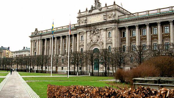 Здание Парламента в Стокгольме