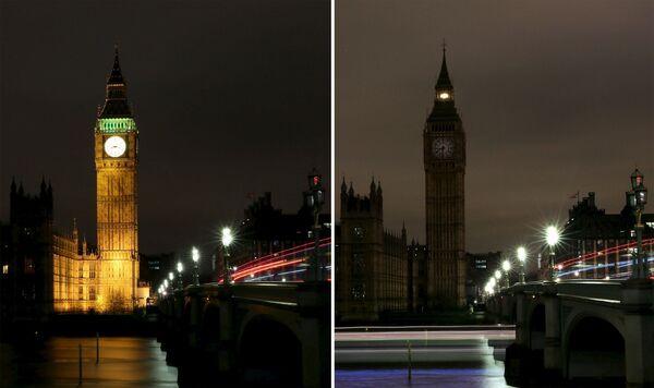 Экологическая акция Час Земли в Лондоне, Великобритания