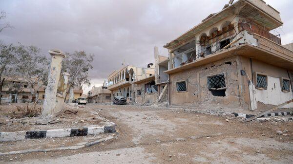 Разрушенные здания в Пальмире. Архивное фото