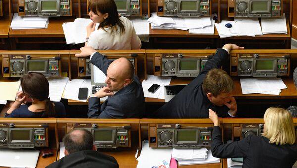 Заседание Верховной Рады в Киеве. Архивное фото