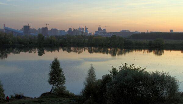 Вид на город Красногорск. Архивное фото