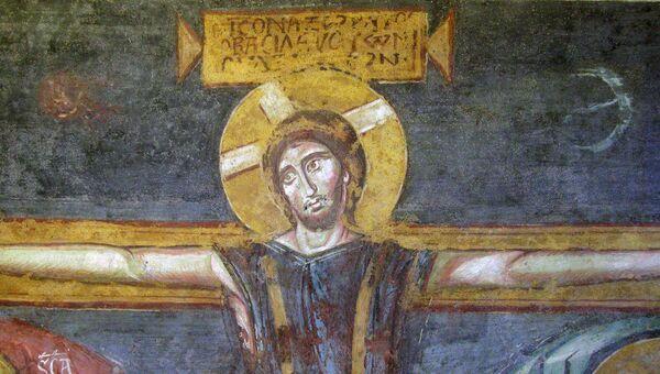 Деталь росписи церкви Санта-Мария Антиква в Риме