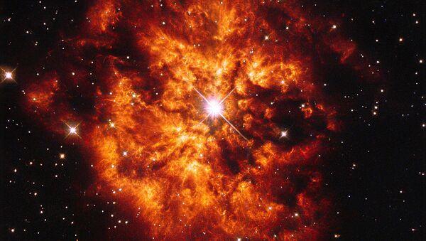 Туманность M1-67 около звезды Вольфа — Райе WR 124