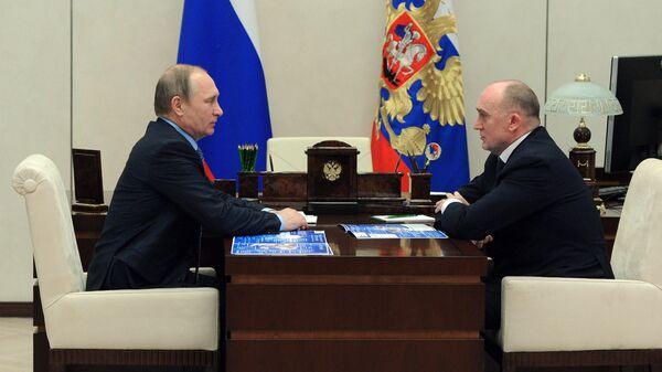 Встреча президента РФ В. Путина с губернатором Челябинской области Б. Дубровским