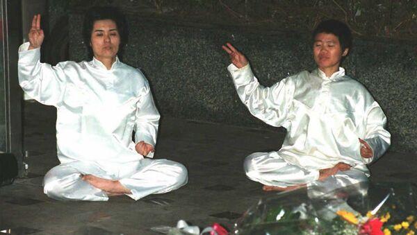 Последователи японской секты Аум Сенрике*. Архивное фото