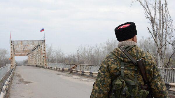 Закрытый украинской стороной КПП у Станицы Луганской. Архивное фото